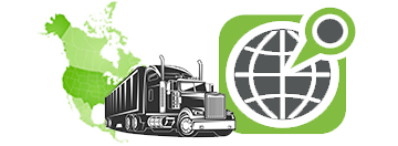 Green truck map and pin illustration
